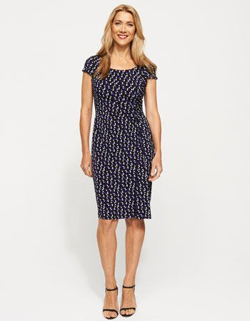 Cap Sleeve Print Dress from JacquiE