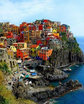 Cinque Terre, Italy. I've never been to Italy, but I want to go there someday.