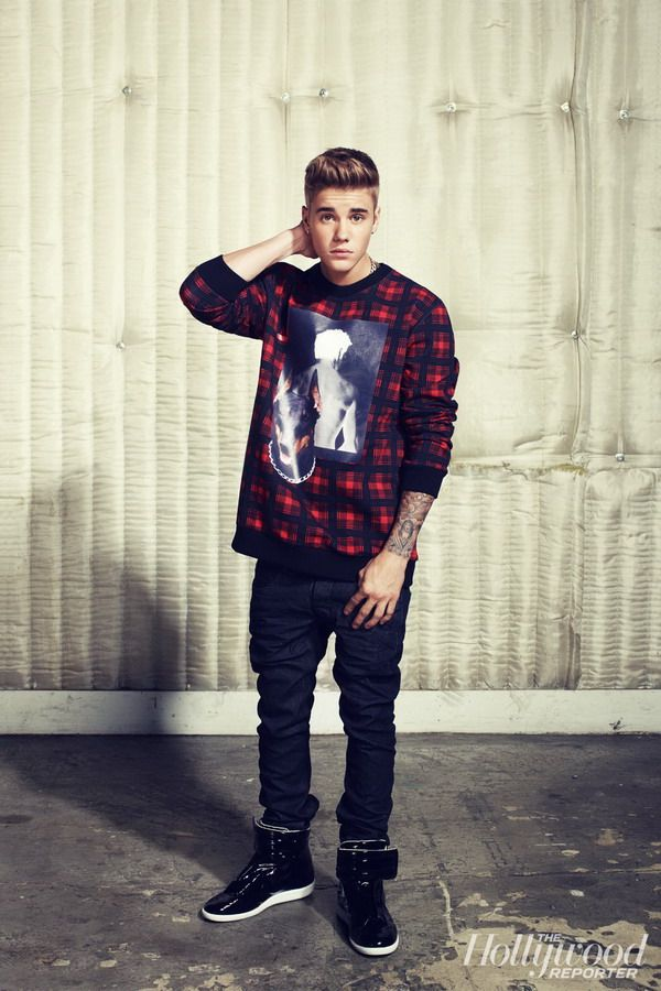 Justin Bieber's photo shoot for The Hollywood Reporter