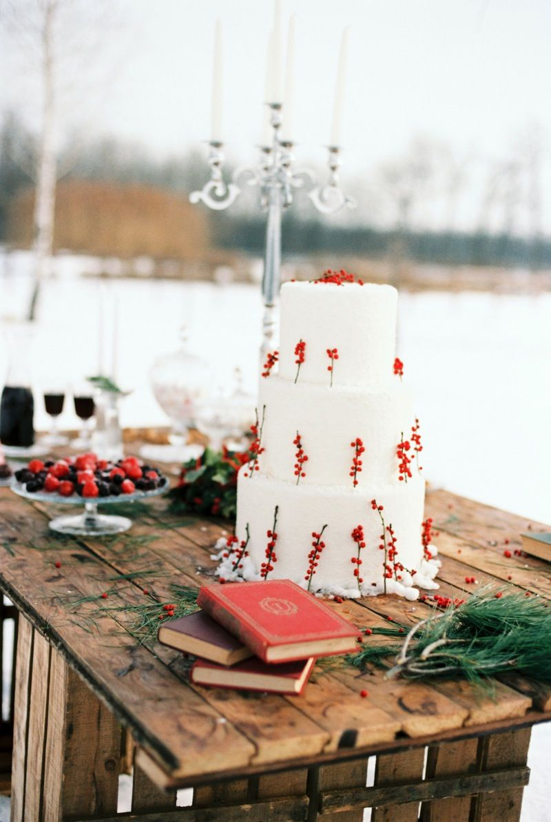 Christmas Wedding Inspiration Full of Rustic Charm from Bell Studios