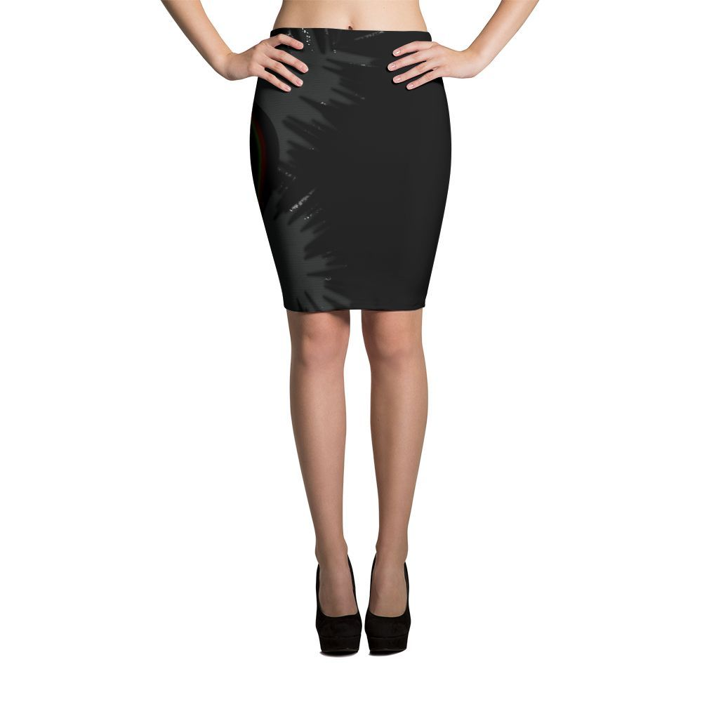 Graphic Sublimation Pencil Skirts