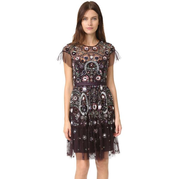 544932a6b8 Needle   Thread Needle   Thread Enchanted Lace Dress - Aubergine ( 599) ❤  liked on Polyvore featuring dresses