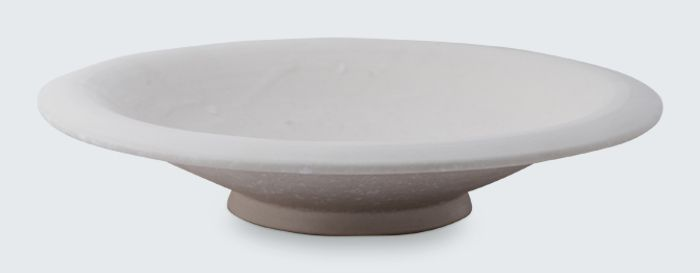 Floating bowl by master potter Christopher Plumridge for Claystone Pottery. Stamped with the Claystone Potter makers mark.