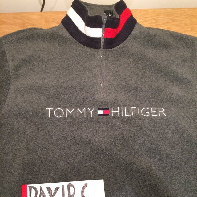 60a9537c844f Tommy Hilfiger quarter zip fleece, 9/10 condition, large, authentic,  perfect for winter, palace supreme polo sport, HIGHEST OFFER IS 80