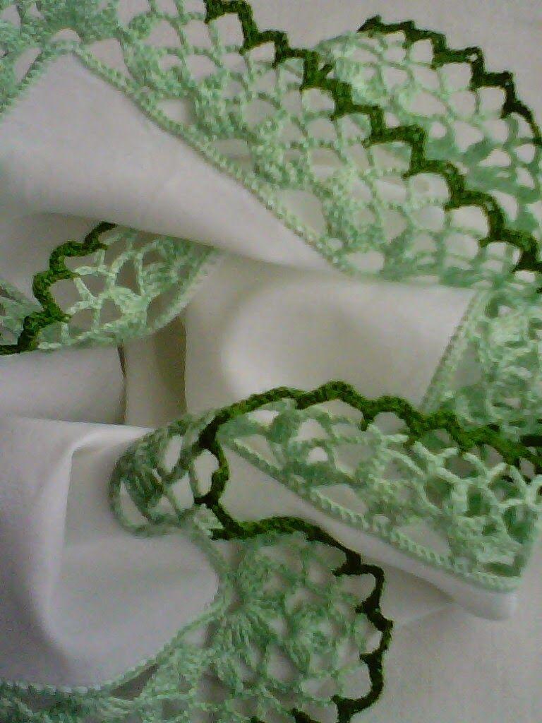 Romans z szydełkiem: Szydełkowa koronka w kolorach zieleni