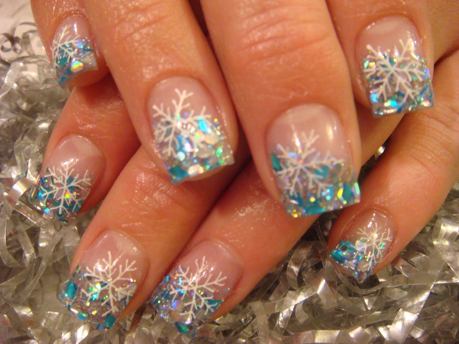 Snowflake nails | Nail Art | Pinterest | Snowflake nails, Winter ...