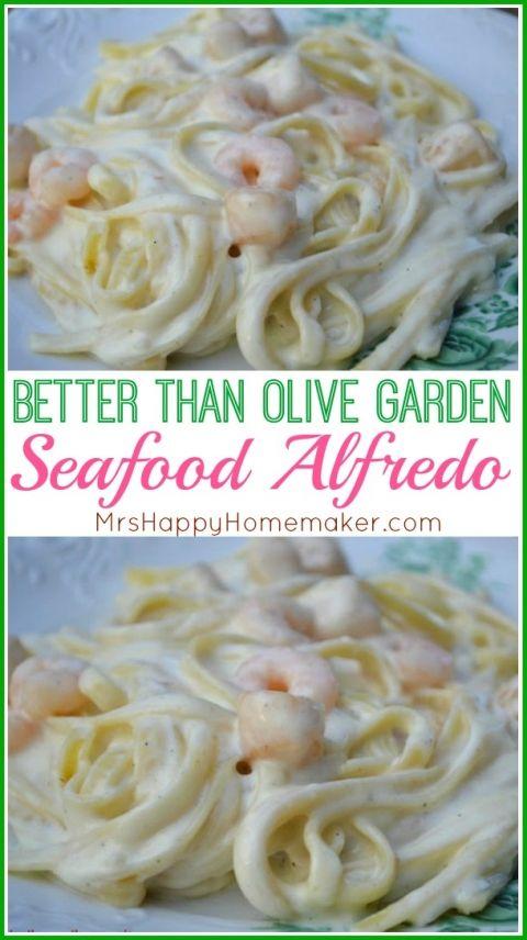 Better than Olive Garden Seafood Alfredo | Gluten free | Pinterest ...