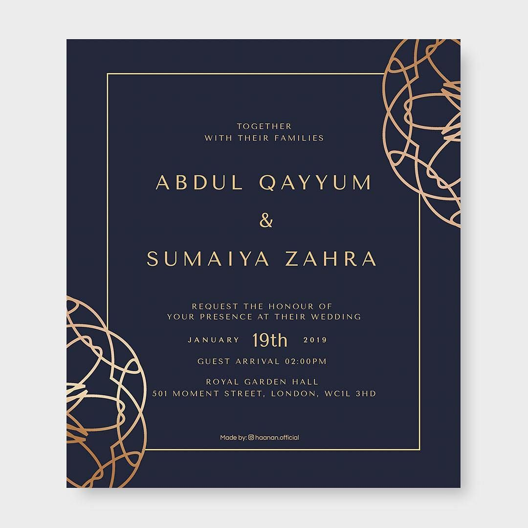 25 Islamic Wedding Invitation Card Designs For Muslims Muslim Wedding Invitations Wedding Invitation Card Design Muslim Wedding Cards