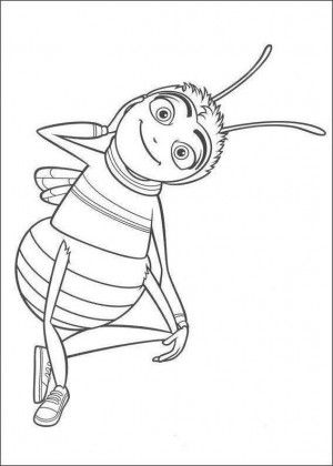 Bee Movie Coloring Page 1
