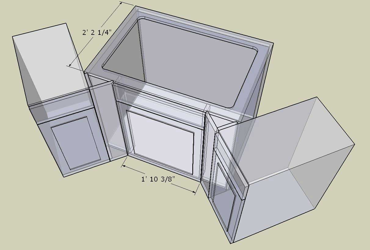 Corner Cabinet Conundrum Kitchenfaucetdimensions Corner Sink Kitchen Corner Sink Kitchen Cabinet Dimensions