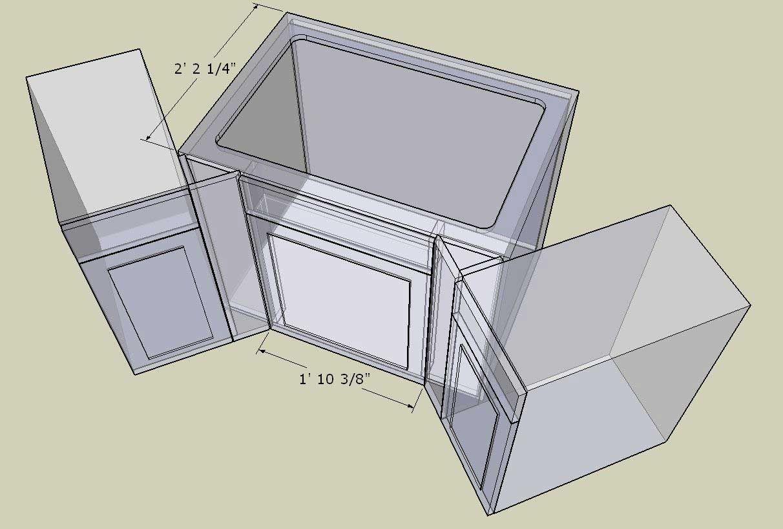 Corner Cabinet Conundrum Kitchenfaucetdimensions Corner Sink Kitchen Corner Sink Kitchen Cabinet Dimensions