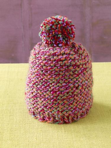 This Garter Stitch Hat Is Anything But Simple With The Bright