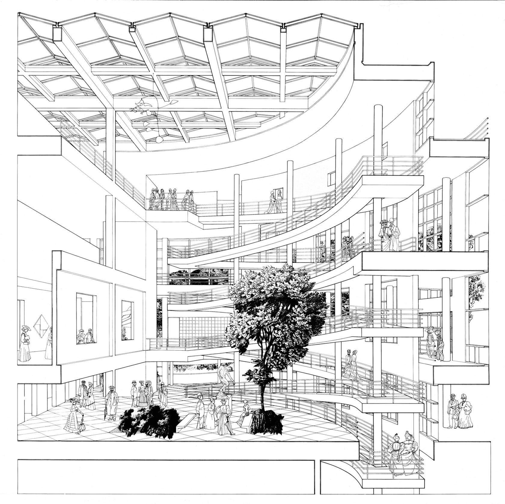 Ausbau Perspektive Runde Rund Ums Haus Entwurf Skizzen Architekturplan Architektur Visualisierung