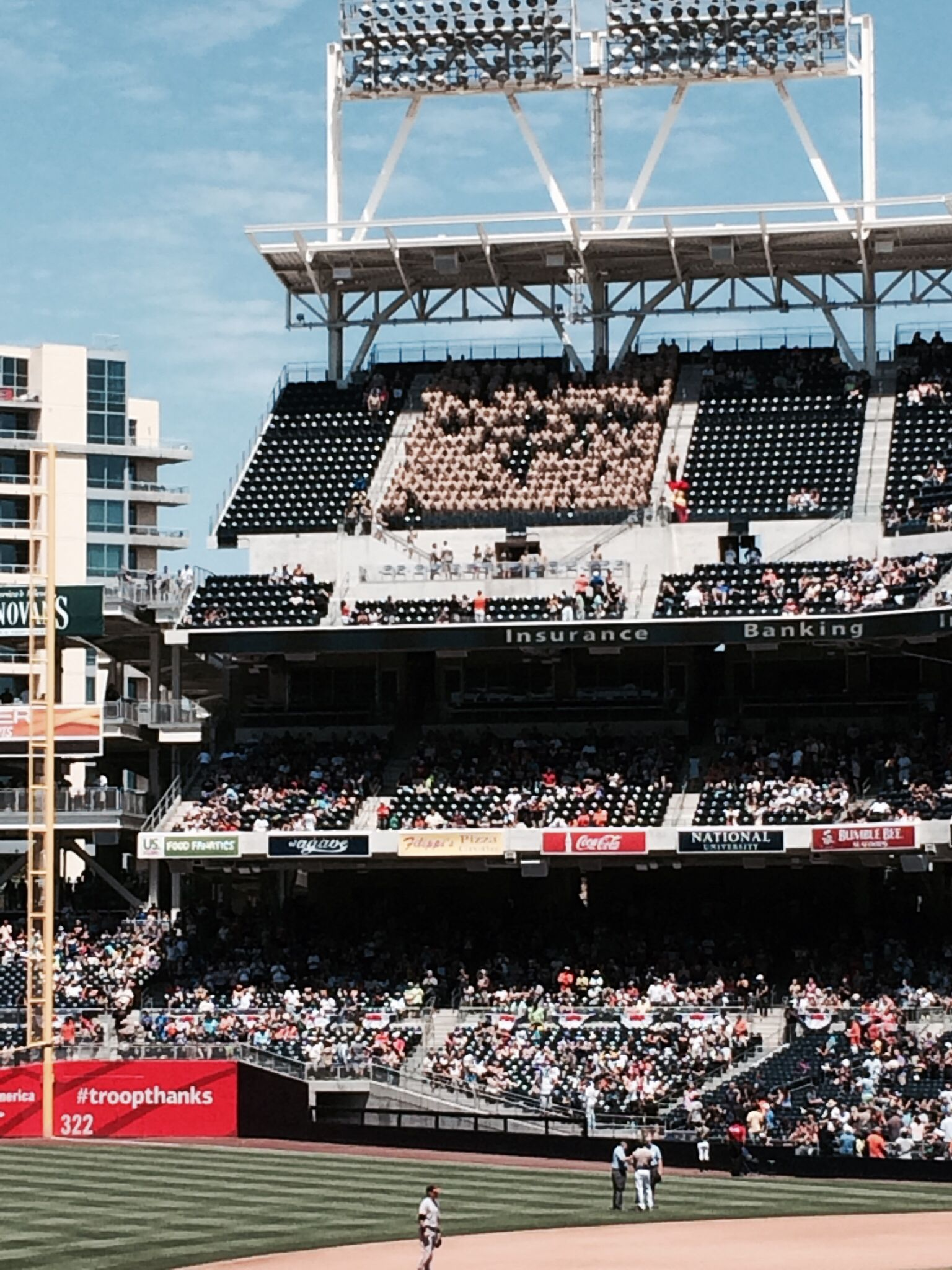 Marine Recruits Attend The San Diego Padres Game Each Sunday