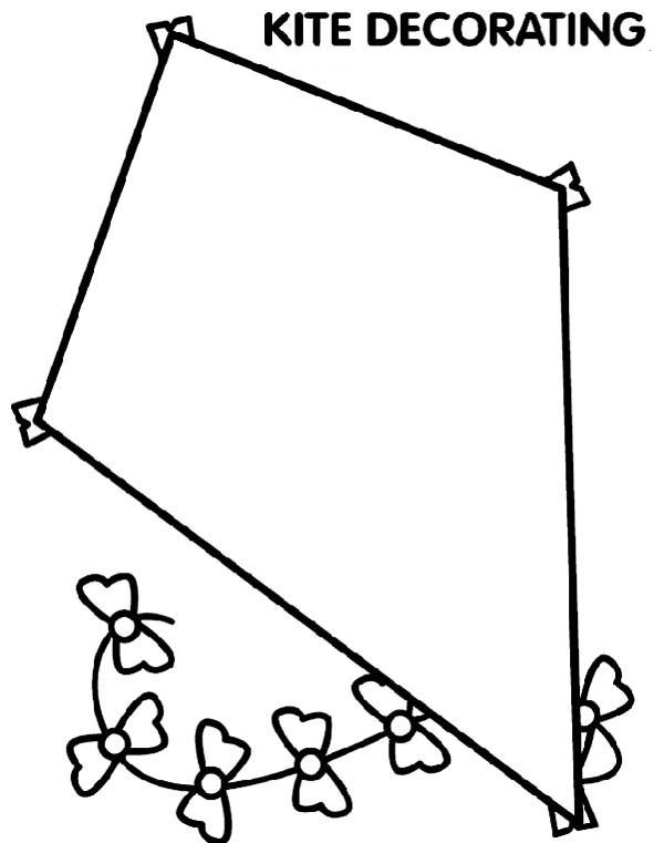 kite coloring pages printable kite - Kite Coloring Pages