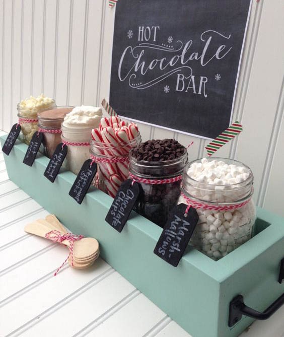 How to DIY a Holiday Hot Chocolate Bar! - Edit + Nest