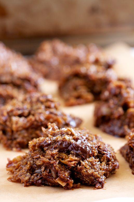 chocolate chunk salted caramel no bake cookies gi 365