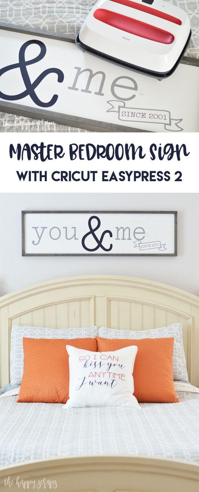 Master Bedroom Sign with Cricut EasyPress 2 Bedroom