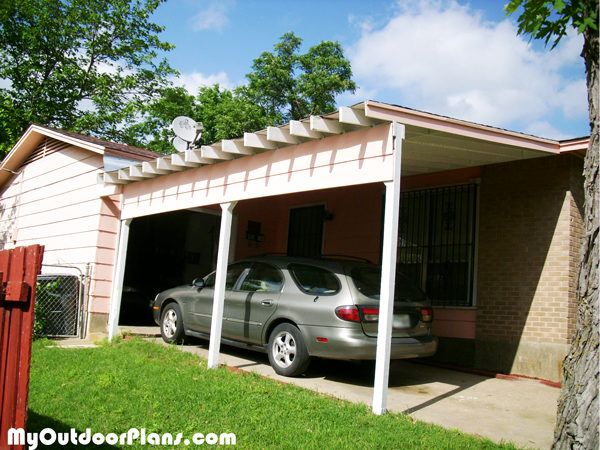 Diy Carport Attached To House Wooden Carport Plans Diy Carport