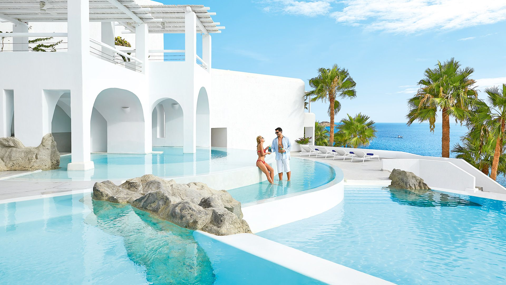 Luxury Villas In Mykonos And Suites Island Blu Is A Unique Five Star Hotel Resort Greece