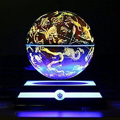 Amazon magnetic levitating floating globe with led light amazon magnetic levitating floating globe with led light rotating world map and gumiabroncs Choice Image