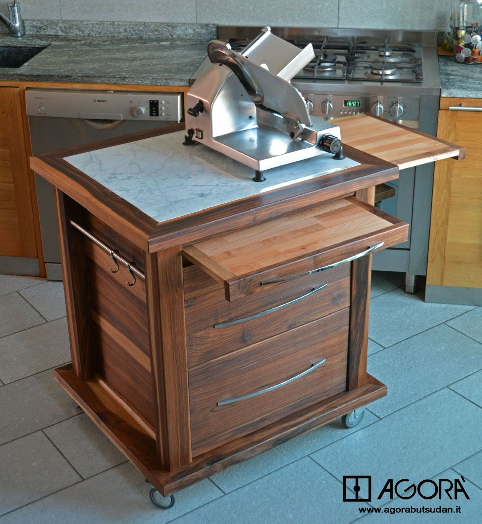 Carrello attrezzato per cucina si pu - Carrelli estraibili per cucine ...