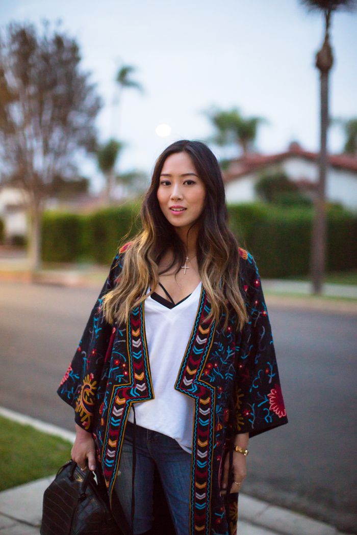 Kimono and Over The Knee Boots | Song of Style | SONG OF STYLE ...