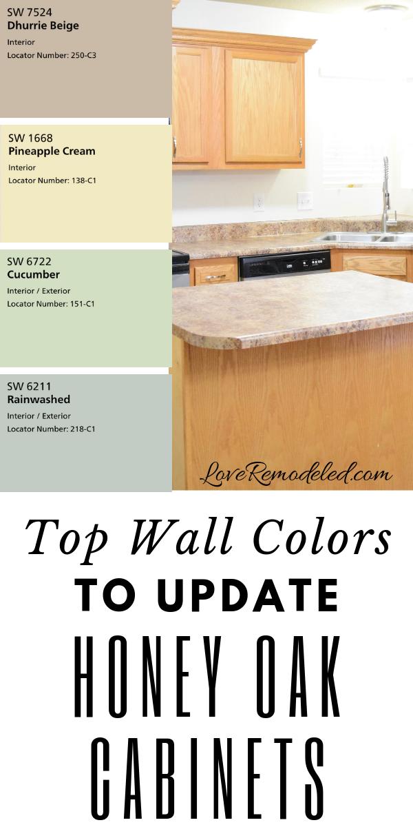 Aktualisieren Sie Honey Oak Cabinets Mit Diesen Wandfarben