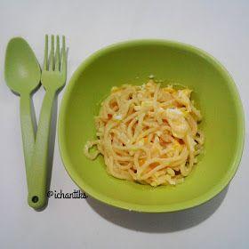 Resep Mpasi Spaghetti Kuah Telur 1y Resep Makanan Bayi Makanan Balita Makanan Bayi
