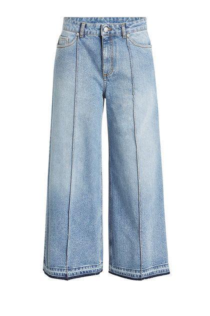 ALEXANDER MCQUEEN - Wide-Leg Crop Jeans | STYLEBOP