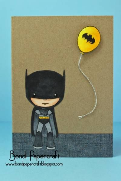 Batman By Aussiek Cards And Paper Crafts At Splitcoaststampers Coloring Birthday Cards Happy Birthday Cards Printable Kids Birthday Cards
