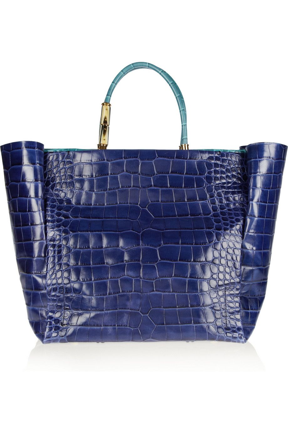 Lanvin - Moon River croc-effect leather shopper