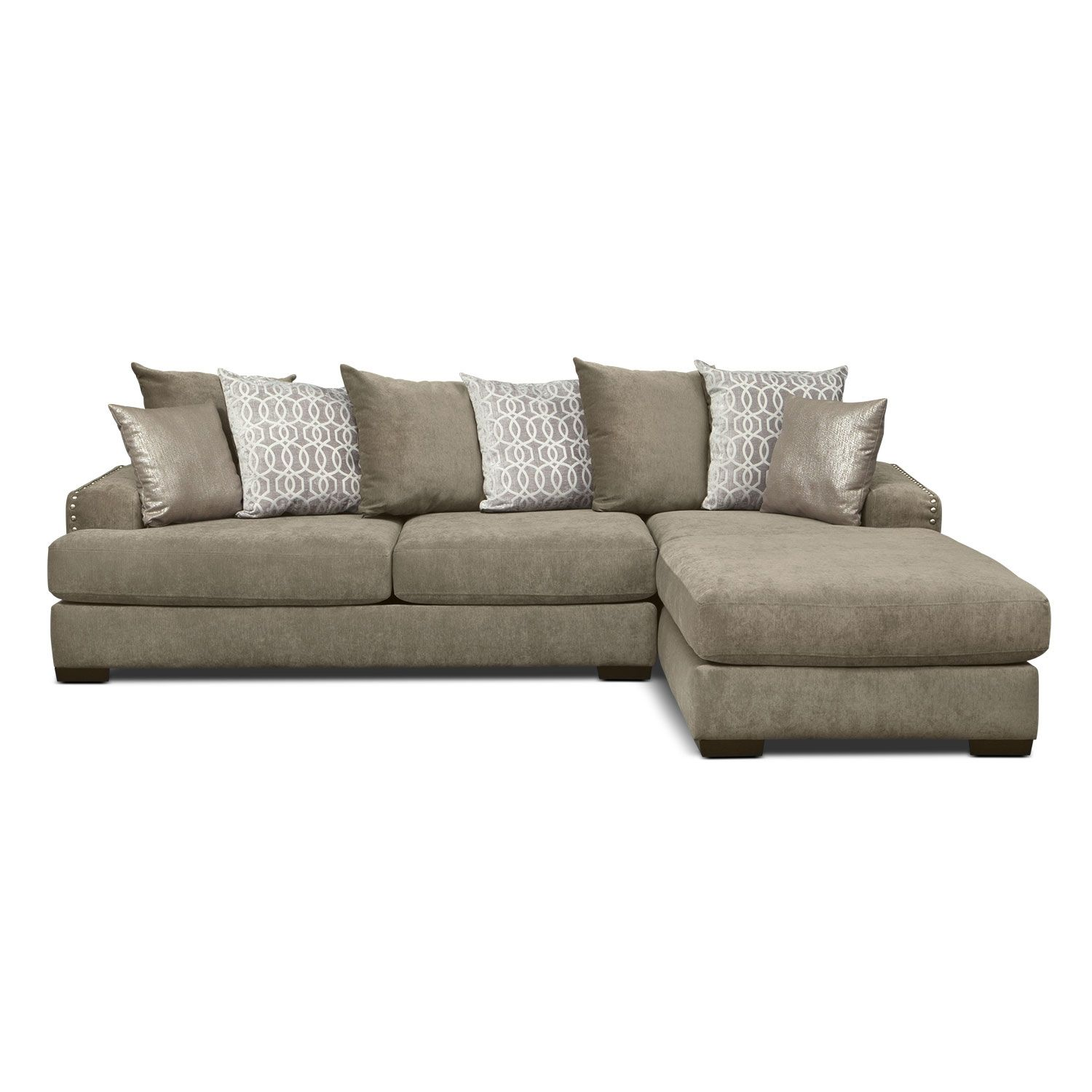 1000 Tempo 2 Pc Sectional With Right Facing Chaise Value City Furniture Grey Sectional Sofa Sectional Sleeper Sofa Sectional Sofa With Chaise