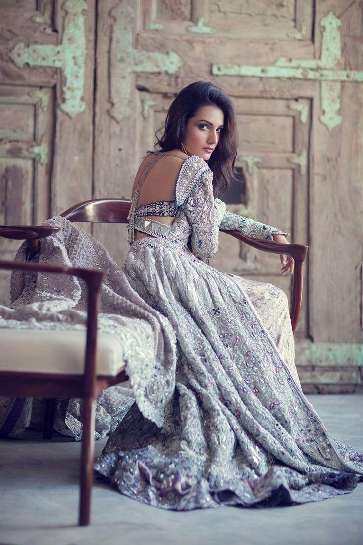 Nice Muslim Wedding Dresses Meera Ansari posing for Elan