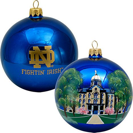 Notre Dame--The Dome/Main Building Round Ball Christmas Ornament - Notre Dame--The Dome/Main Building Round Ball Christmas Ornament
