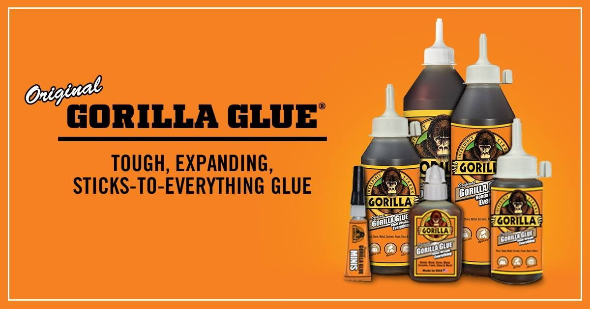 Gorilla Glue Original comes in a variety of sizes, perfect