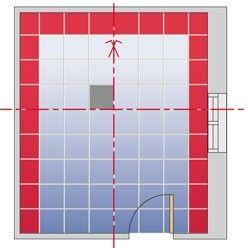 Conseils pour réaliser le plan de pose d'un carrelage | Poser du carrelage, Comment poser du ...