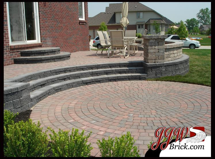 brick paver patio shelby mi backyard pinterest brick patios