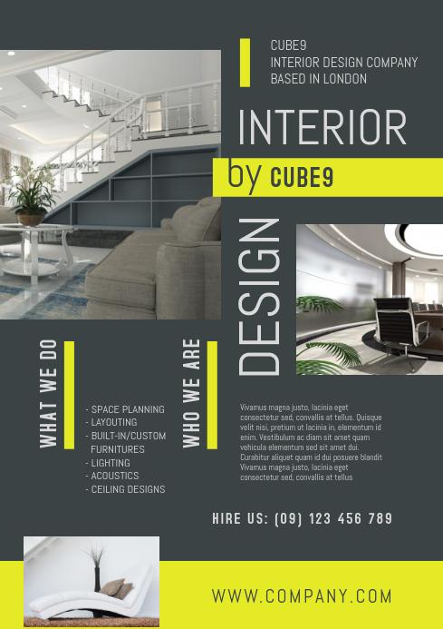 140 Interior Design Customizable Design Templates Postermywall In 2020 Design Company Interior Design Companies Design