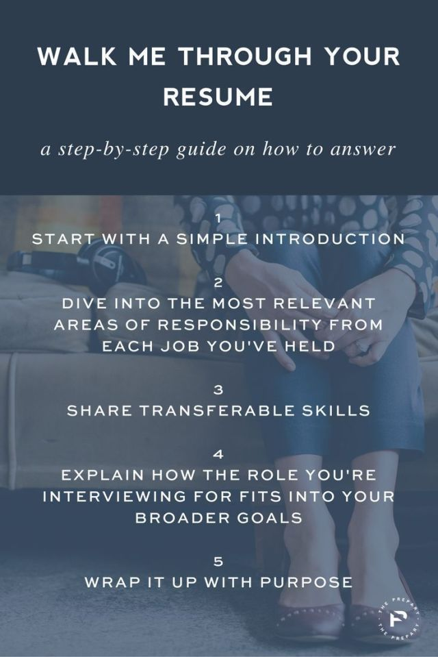 Career infographic  Save for your next interview A step by step - resume questions and answers