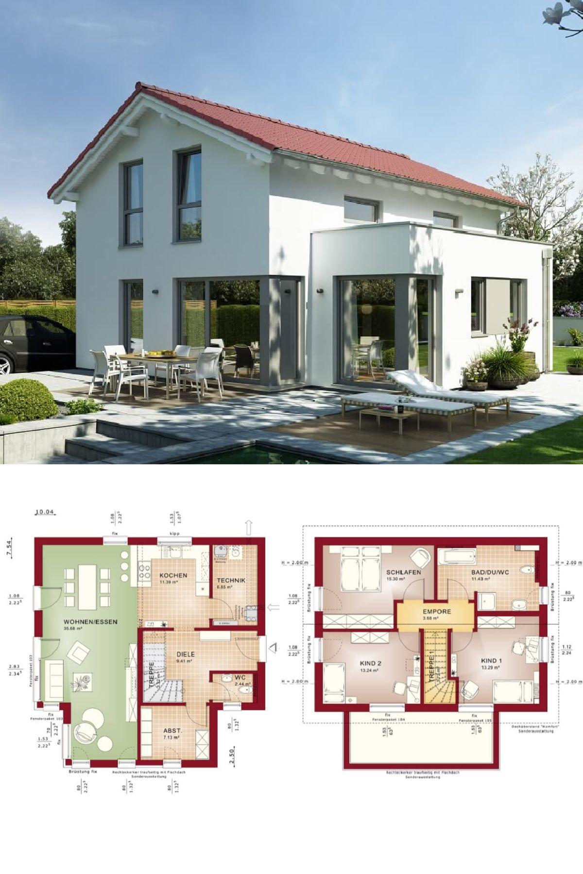 einfamilienhaus klassisch mit satteldach und erker anbau. Black Bedroom Furniture Sets. Home Design Ideas