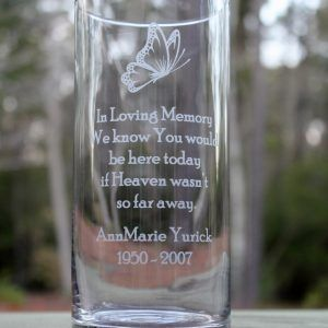 Memorial Flower Vase For Wedding - flower shop near me on personalized ring, personalized mug, personalized sign, personalized ornament, personalized cup, personalized frame, personalized bag, personalized stone, personalized pillow, personalized bowl, personalized basket, personalized tiles,