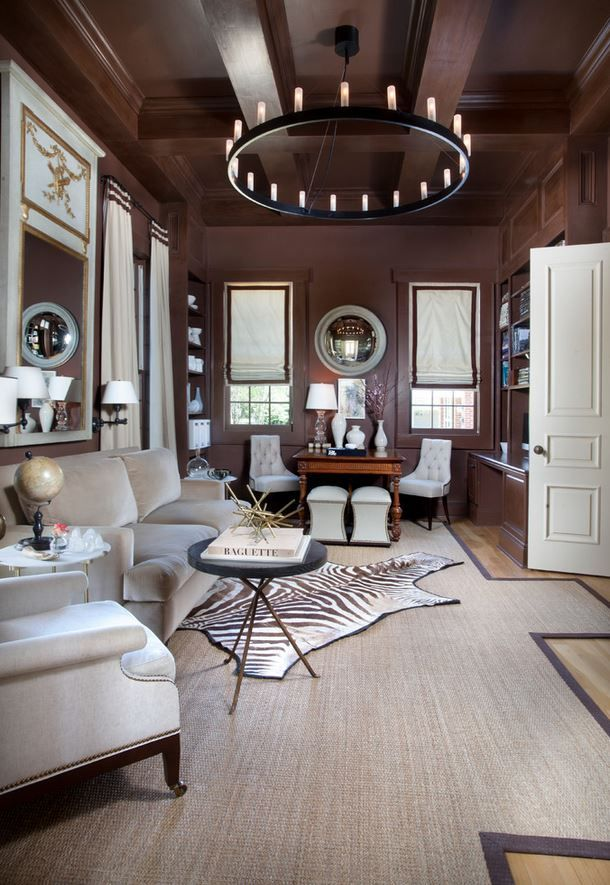 I like the rich chocolate brown color in this library (610 ...