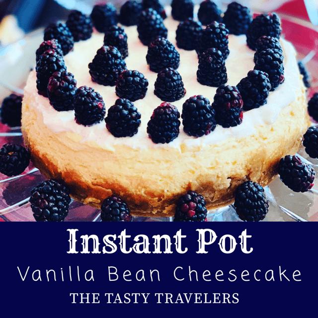 Vanilla Bean Cheesecake With Sour Cream Topping Instant Pot Recipe Vanilla Bean Cheesecake Vanilla Bean Cheesecake Recipe Sour Cream Cheesecake