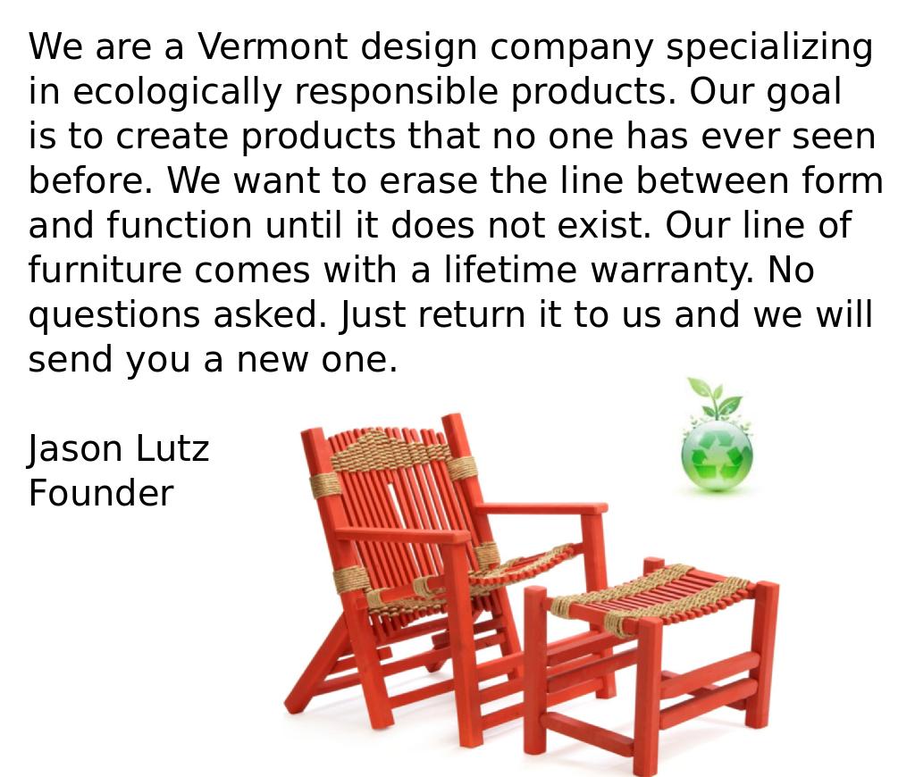 The Vermont Cedar Chair Company | Handmade Furniture