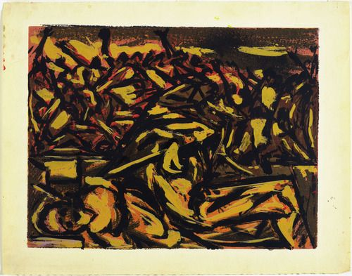 """Untitled - 1938 - Screenprint with gouache and india ink additions - 16 15/16"""" X 21 13/16"""" - Museum of Modern Art New York"""