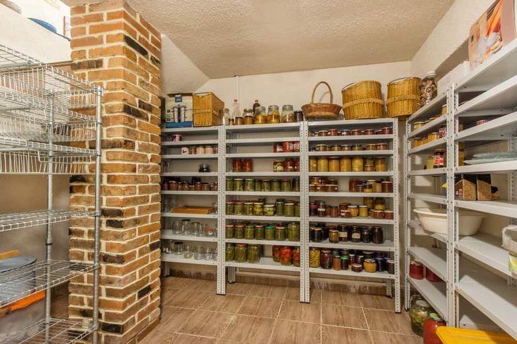45 Gorgeous Walk-In Kitchen Pantry Ideas  Photos   #brick #featuring #flooring #Gorgeous #Ideas #kitchen #large #pantry #Photos #pillar #Tiles #WalkIn #largepantryideas