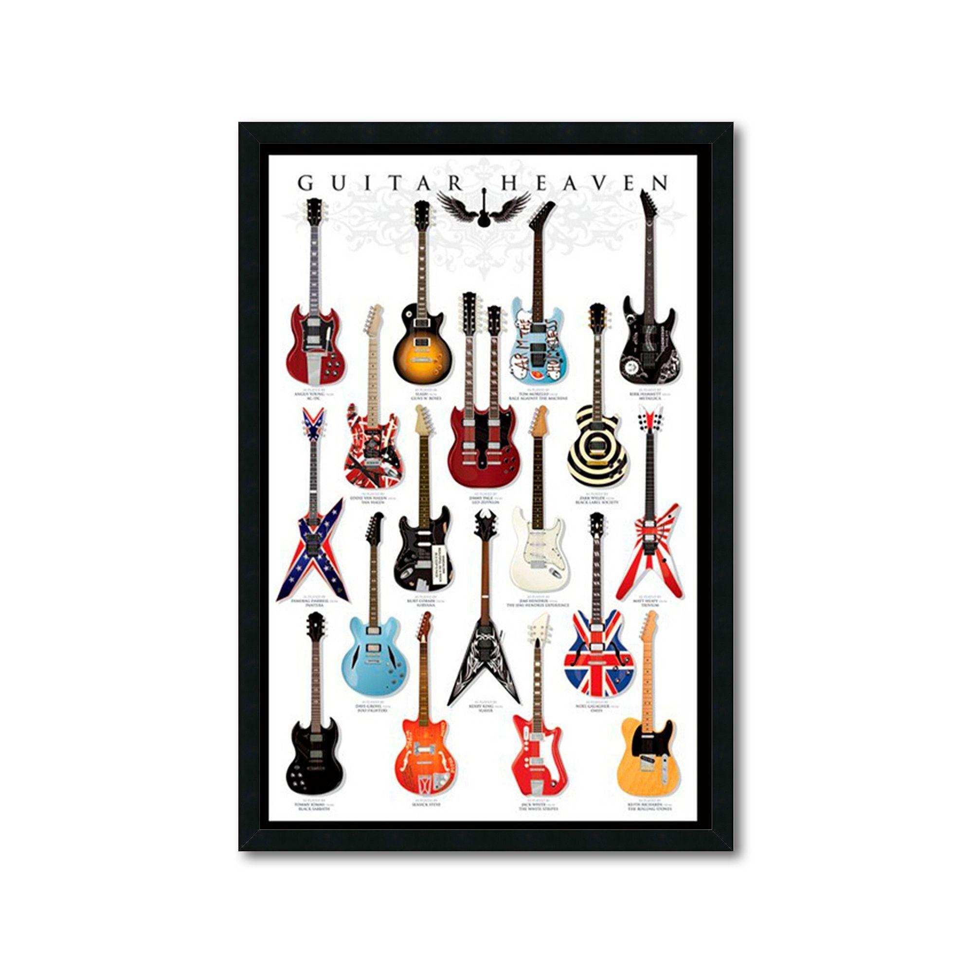 Guitar Heaven Framed Wall Art Multicolor