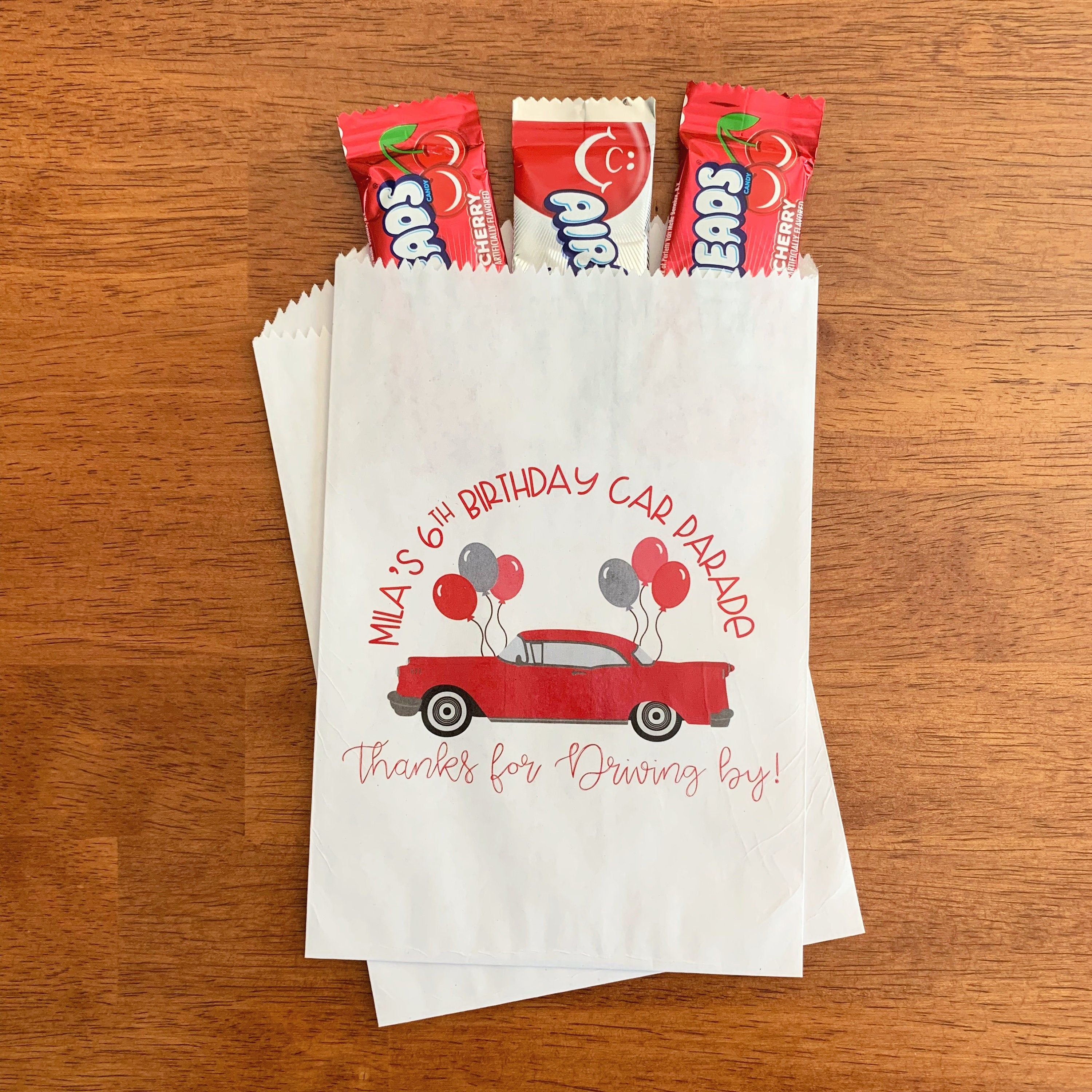 Drive By Birthday Party Favors Car Parade Birthday Favor Etsy In 2020 Birthday Party Favors Birthday Favors Party Favors