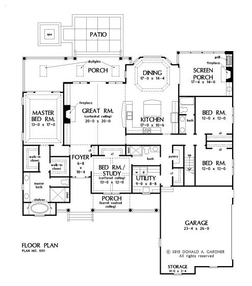 floorplan the simon house plan 1351 love it would just make the
